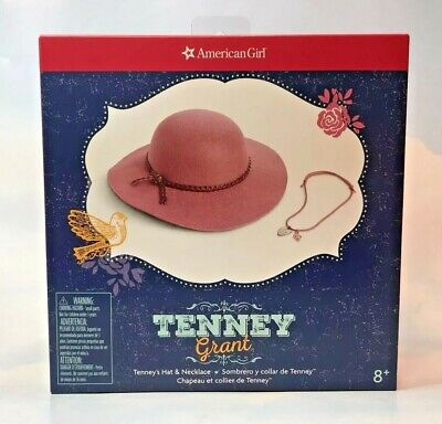 Free shipping! American Girl Doll Tenney Grant Hat and Necklace New In Box