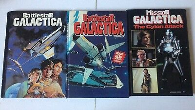 BATTLESTAR GALACTIA STORYBOOK & ANNUAL MISSION The Cylon Attack 1978 1980 1970s