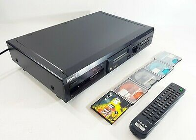 Sony MDS-JE330 Mini Disc Player + Remote + 5 free Discs (1 New) FREE UK DELIVERY