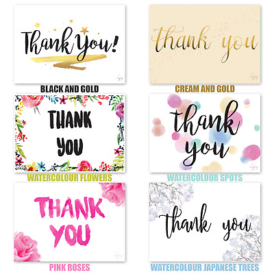 Pack of 20 Thank You Cards Thankyou Christmas, Birthday, Anniversary, Gift, Card