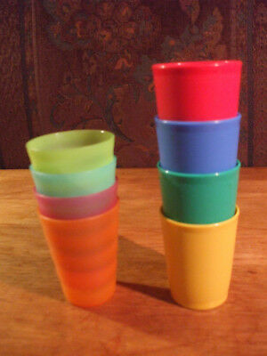 8 CUPS - TUPPERWARE 4 Midgets 1503 + 4 Tuppertoys Impressions 4080A