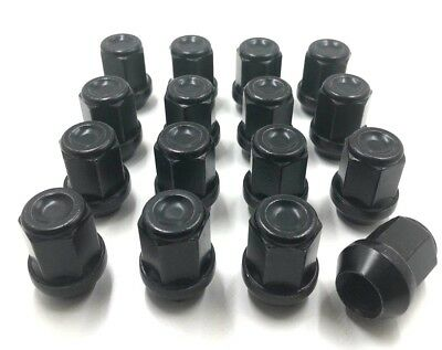 16 x ALLOY WHEEL NUTS BLACK FOR FORD TRANSIT CONNECT M12 X 1.5 19MM,BOLT LUG [3]