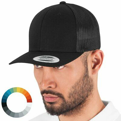 5d0a2b77 FLEXFIT TRUCKERS CAP Mesh Trucker Black White Navy Mens Women Unisex ...