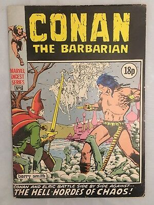 Conan The Barbarian Barry Smith Marvel Digest Series No 6 Comic Book