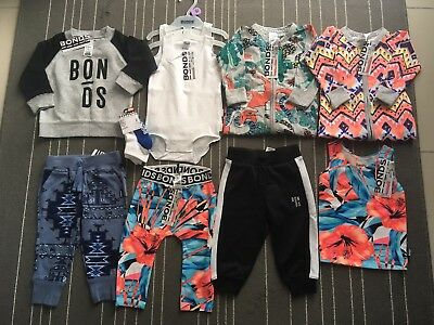 NEW Bonds Clothing Bulk Bundle, With Wondersuits Size 0 (6-12 Months) FREE POST