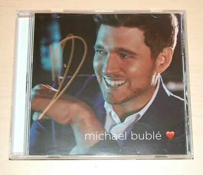 MICHAEL BUBLE - LOVE Pre-Order Exclusive SIGNED AUTOGRAPHED CD Insert