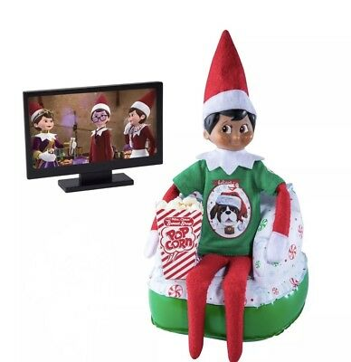NEW Elf on the Shelf Claus Couture Collection Merry Movie Night Chair Furniture