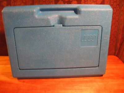 Vintage 1983 Blue Lego Carrying Case Box Bin Container Storage clean