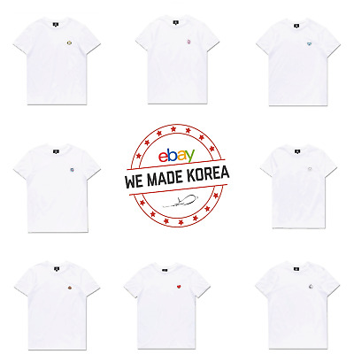BTS BT21 X Hunt Innerwear Character Short Sleeve White T-Shirt 2ea Official MD