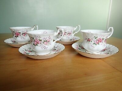 Royal Albert Lavender Rose tea cup and saucer x 4