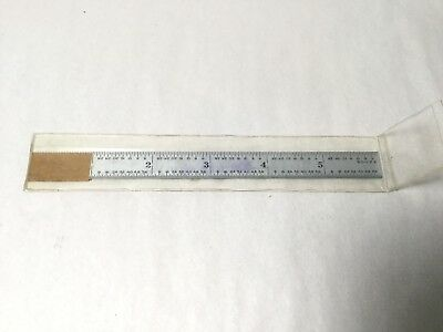 """Fowler 952S 6"""" Rule - Reads 32nds, 64ths, 50ths, & 100ths Ruler"""