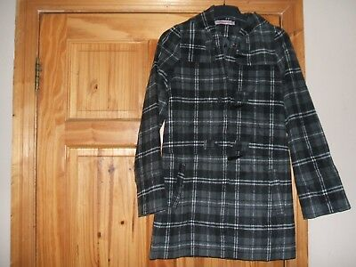 Size 13-14yrs Coat-Stunning-NEW WITH TAGS-Grey Duffel Coat with clasp buttons