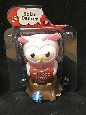 Dancing Owl Happy Harvest Free Shipping Solar Powered Dancing Owl