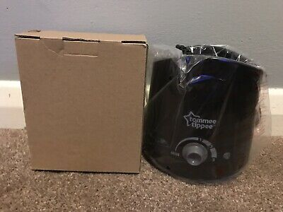 NEW Tommee Tippee Closer To Nature Electric Baby Bottle Warmer - Black - Boxed