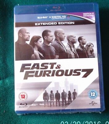 bluray *** FAST AND FURIOUS 7 ***  ( neuf sous blister )