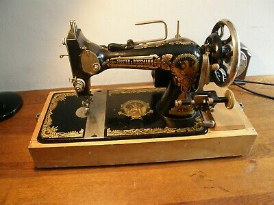 Egyptian Motif Frister And Rossmann,Electric Sewing Machine,Shop Display,Freepos
