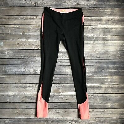 64133c22de3da Lucy Women Small Dark Gray Pink Side Stripe Power Max Legging Pant Mid Rise