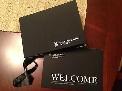 Chase JP Ritz Carlton Credit Card Welcome Package Kit American Express Platinum