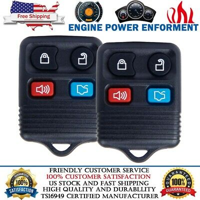 2x Replacement For 2005 2006 2007 2008 2009 2010 Ford Mustang Car Key Fob Remote
