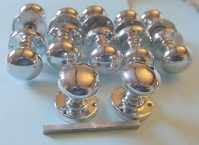 Art Deco style set of good quality chrome knobs-up to six sets