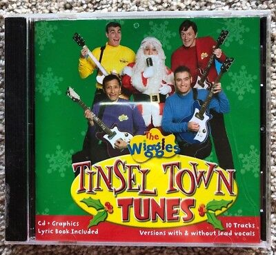 The Wiggles Tinsel Town Tunes 10 CHRISTMAS Tracks 2006 CD + Graphics New Sealed!