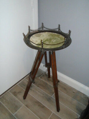 Nautical Authentic Vintage Table Tripod Stand Nautical Decor