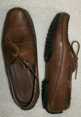 86041d5c7d1 H.S. Trask Colter Creek Mens Leather Shoes Size 11.5 N Brazil Loafers  Stitched