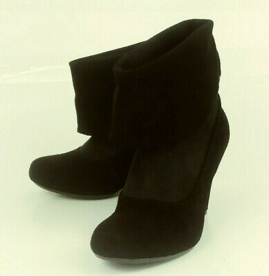 84fde7c9466 STEVE MADDEN WOS Boots Ankle Wedge TANNGOO US 9.5 M Beige Suede ...