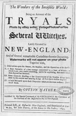 """Old/Antique Strange/Weird/Odd Salem """"Real"""" Witches/Witchcraft Book Cover Photo"""