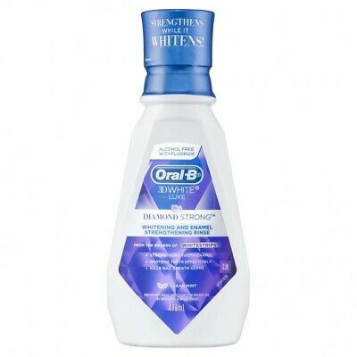 Oral-B 3D White Luxe Diamond Strong Rinse Clean Mint 473ml