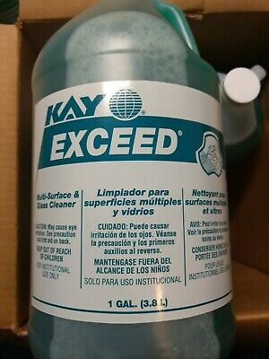 Kay Exceed Multi-Surface & Glass Cleaner Case Of 4 Gallons