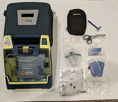 Cardiac Science Powerheart G3 AED Automatic w/ Battery, Pads, Case and more