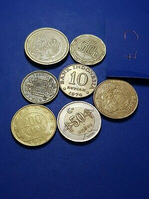 World MIXED Coins Collectable asia euro dollar lira ore brilliant lot c7 gift