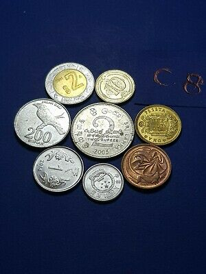 World MIXED Coins Collectable asia euro dollar lira ore brilliant lot c8 gift