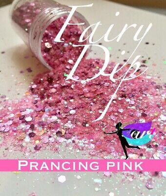 Chunky Glitter Hex Blend, Nail Art, Arts and Crafts, Pink Glitter