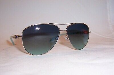 0e959aa18b33 New Tiffany   Co Sunglasses Tf 3049B 60019S Silver blue Authentic 3049