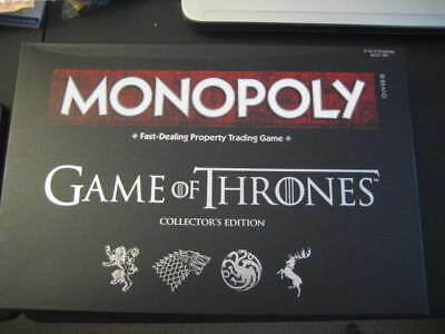 Monopoly: Game of Thrones Collector's Edition Board game - NIB
