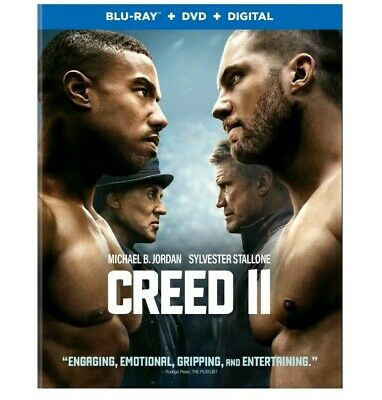 CREED 2 Blu-ray/DVD NO Digital (CASE, SLIP COVER)