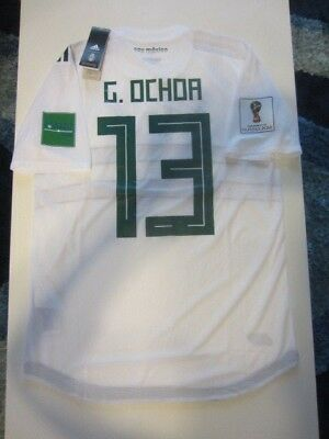 478f35f2f Adidas Memo Ochoa  13 Mexico 2018 World Cup Away Authentic Player Jersey  Patches
