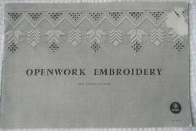 Vintage Dmc Openwork  Embroidery Book Includes Directions And Patterns