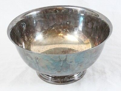 "William Rogers Paul Revere Reproduction 9"" Silverplate Footed Bowl"