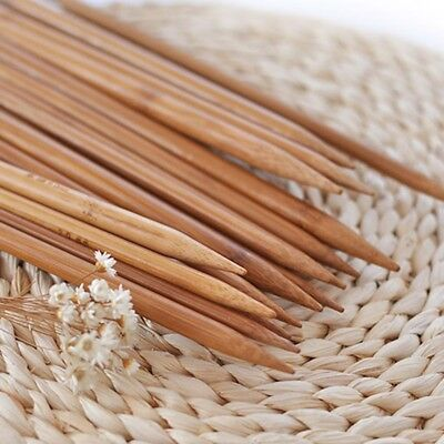 Natural Bamboo Double Pointed Knitting Needles 25cm Long Set Of 44