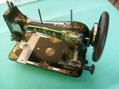 """A RARE ANTIQUE A.N.A """"SEWING MACHINE """"Excellent Condition""""VERY EARLY PIECE"""