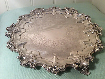 Antique Sterling Salver Victoria Silversmith Barnard 1840-41