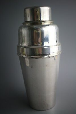 SUPERB ~ SILVER Plated ~ ART DECO ~ COCKTAIL SHAKER
