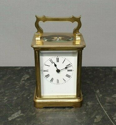 Antique 8 Day English Lever Carriage Clock.