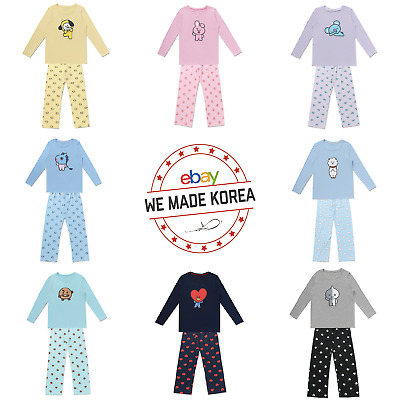 BTS BT21 X Hunt Innerwear Character T-Shirt & Pajama Pants Set K-Pop Official MD