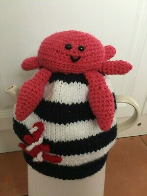 Nautical Knitted Tea Cosy