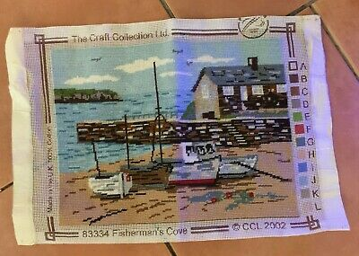 Harbour Fisherman's Cove Tapestry - ready to frame