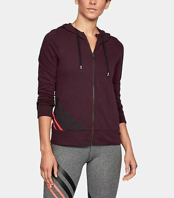 Under Armour UA French Terry Full Zip Women's Hoodie 1316115-916 XS NWT $60